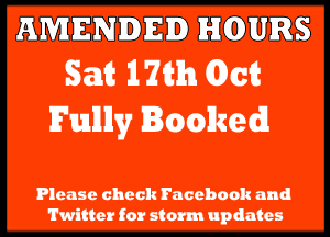 Amended Hours